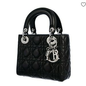 CHRISTIAN DIOR  Mini Leather Lady Dior Bag